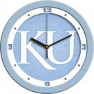 "Kansas Jayhawks 12"" Blue Wall Clock"