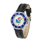 Kansas Jayhawks Competitor Ladies Watch with Leather Band