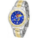 Kansas Jayhawks Competitor AnoChrome Two Tone Watch