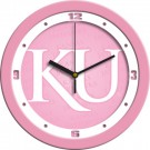 "Kansas Jayhawks 12"" Pink Wall Clock"