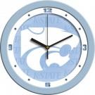 """Kansas State Wildcats 12"""" Blue Wall Clock"""