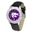 Kansas State Wildcats Competitor AnoChrome Men's Watch with Nylon/Leather Band