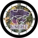 "Kansas State Wildcats 12"" Camo Wall Clock"