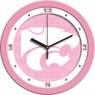 "Kansas State Wildcats 12"" Pink Wall Clock"