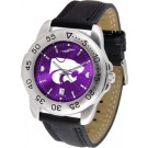 Kansas State Wildcats Sport AnoChrome Men's Watch with Leather Band