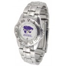 Kansas State Wildcats Gameday Sport Ladies' Watch with a Metal Band