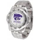 Kansas State Wildcats Sport Steel Band Men's Watch