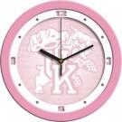 """Kentucky Wildcats 12"""" Pink Wall Clock"""