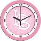 "California State (Long Beach) Dirtbags 12"" Pink Wall Clock"