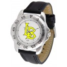 California State (Long Beach) Dirtbags Men's Sport Watch with Leather Band