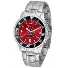 Louisville Cardinals Competitor AnoChrome Men's Watch with Steel Band and Colored Bezel