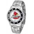 Louisville Cardinals Competitor Watch with a Metal Band