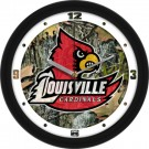 "Louisville Cardinals 12"" Camo Wall Clock"