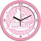 "Louisville Cardinals 12"" Pink Wall Clock"