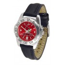 Louisville Cardinals Sport AnoChrome Ladies Watch with Leather Band