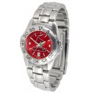Louisville Cardinals Sport AnoChrome Ladies Watch with Steel Band
