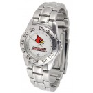 Louisville Cardinals Gameday Sport Ladies' Watch with a Metal Band