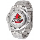 Louisville Cardinals Sport Steel Band Men's Watch