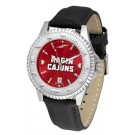 Louisiana (Lafayette) Ragin' Cajuns Competitor AnoChrome Men's Watch with Nylon/Leather Band