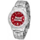 Louisiana (Lafayette) Ragin' Cajuns Competitor AnoChrome Men's Watch with Steel Band