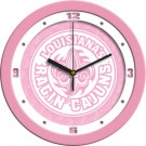 "Louisiana (Lafayette) Ragin' Cajuns 12"" Pink Wall Clock"