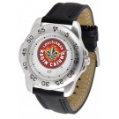 Louisiana (Lafayette) Ragin' Cajuns Men's Sport Watch with Leather Band