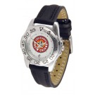 Louisiana (Lafayette) Ragin' Cajuns Ladies Sport Watch with Leather Band