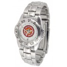 Louisiana (Lafayette) Ragin' Cajuns Ladies Sport Watch with Stainless Steel Band