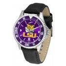 Louisiana State (LSU) Tigers Competitor AnoChrome Men's Watch with Nylon/Leather Band and Colored Bezel