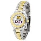 Louisiana State (LSU) Tigers Competitor Ladies Watch with Two-Tone Band