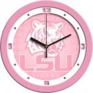 "Louisiana State (LSU) Tigers 12"" Pink Wall Clock"