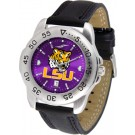 Louisiana State (LSU) Tigers Sport AnoChrome Men's Watch with Leather Band