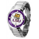 Louisiana State (LSU) Tigers Titan Steel Watch by