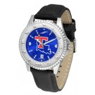 Louisiana Tech Bulldogs Competitor AnoChrome Men's Watch with Nylon/Leather Band