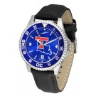 Louisiana Tech Bulldogs Competitor AnoChrome Men's Watch with Nylon/Leather Band and Colored Bezel