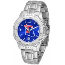 Louisiana Tech Bulldogs Competitor AnoChrome Men's Watch with Steel Band