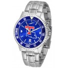 Louisiana Tech Bulldogs Competitor AnoChrome Men's Watch with Steel Band and Colored Bezel