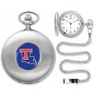 Louisiana Tech Bulldogs Silver Pocket Watch