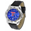 Louisiana Tech Bulldogs Sport AnoChrome Men's Watch with Leather Band