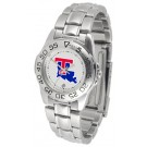 Louisiana Tech Bulldogs Gameday Sport Ladies' Watch with a Metal Band