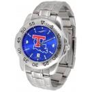 Louisiana Tech Bulldogs Sport Steel Band Ano-Chrome Men's Watch