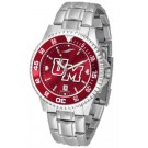 Massachusetts Minutemen Competitor AnoChrome Men's Watch with Steel Band and Colored Bezel by