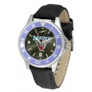 Maine Black Bears Competitor AnoChrome Men's Watch with Nylon/Leather Band and Colored Bezel
