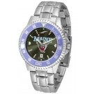 Maine Black Bears Competitor AnoChrome Men's Watch with Steel Band and Colored Bezel