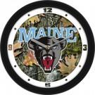 "Maine Black Bears 12"" Camo Wall Clock"