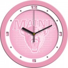 "Maine Black Bears 12"" Pink Wall Clock"