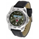 Maine Black Bears Sport AnoChrome Men's Watch with Leather Band