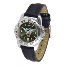 Maine Black Bears Sport AnoChrome Ladies Watch with Leather Band