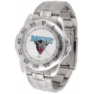Maine Black Bears Sport Steel Band Men's Watch
