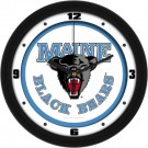 "Maine Black Bears Traditional 12"" Wall Clock"